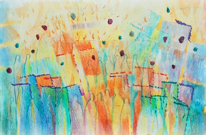 Schilderij uit 2010 van Janneke Rosenbrand